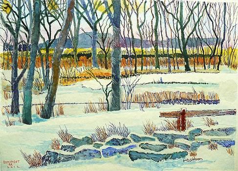 Somerset PA. Snow Scene by Donald McGibbon