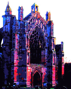 South Transept Melrose Abbey by Derrick Armitage