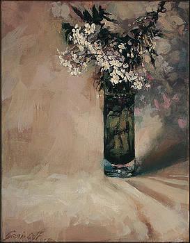 Spring Jasmine in a Vase by Gavin Calf