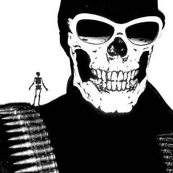 Sskully - Death Dealer Art by Edward Przydzial