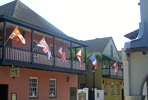 Patricia Taylor - St. Augustine with Flags