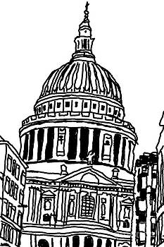 St Paul's Cathedral sketchy by Betul Salman