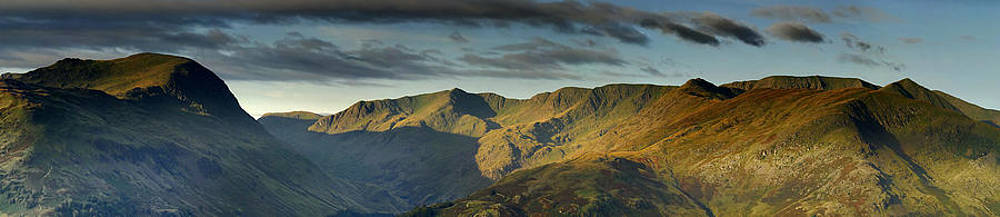 St Sunday Crag and Helvellyn Panorama by Stewart Smith
