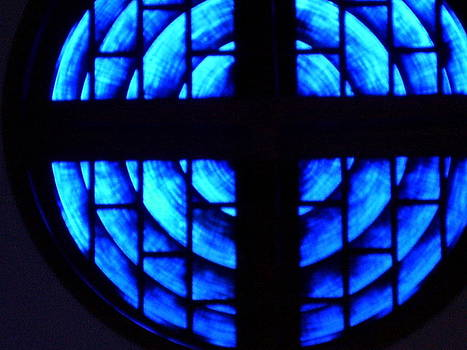 Stained Glass in Blue by Sharon Spade - Kingsbury