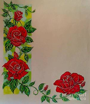 Stained Glass Rose by Kimberlee  Ketterman Edgar