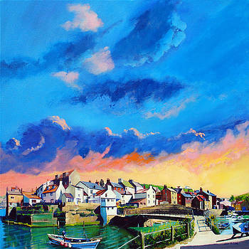 Neil McBride - Staithes at sundown