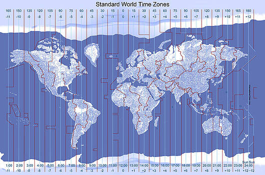 Standard World Time Zones by Carol and Mike Werner