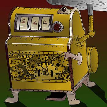 Steampunk Slot Machine like Liberty Bell by Casino Artist