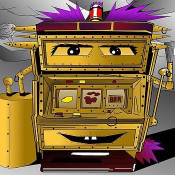 Steampunk Slot Punk Machine by Casino Artist