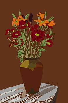 Still Life Vase of Flowers  by Kate Farrant