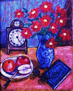 Still Life with Clock by Camelia Apostol