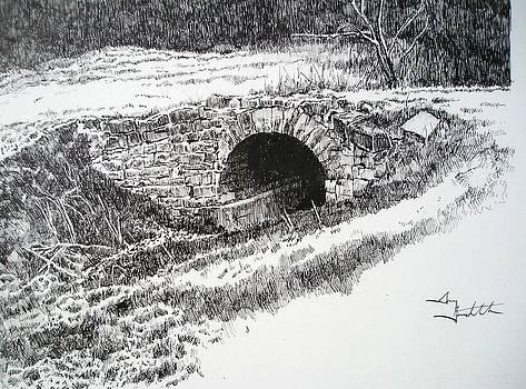 Stone Arch Bridge at Mayestown by Gary Gackstatter