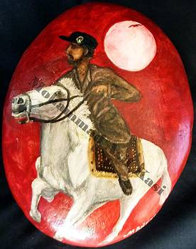 Stone Painting Of Horse by Asif Kasi