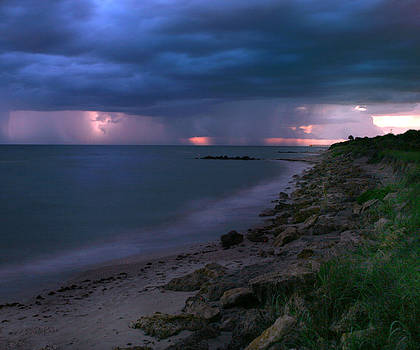 Storm at the Beach by Monica Lahr