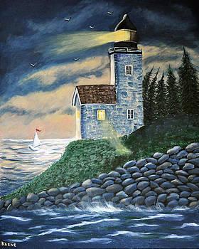 Stormy night by Jeanette Keene