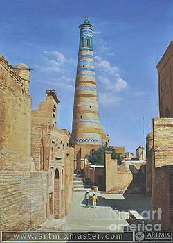 Street Khiva by Sohib Razzakov