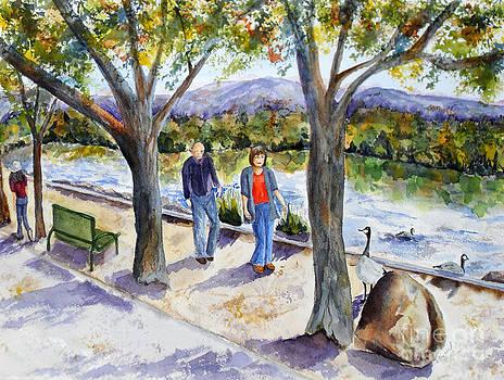 Strolling Virginia Lake by Vicki  Housel