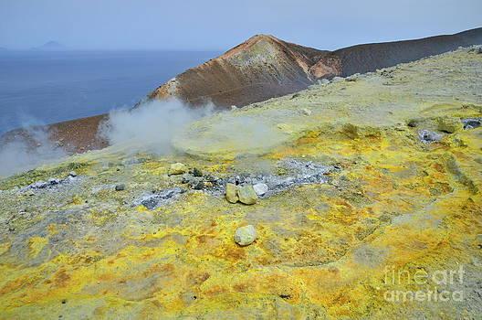 Sami Sarkis - Sulphur and fumaroles smoke on Vulcano Island
