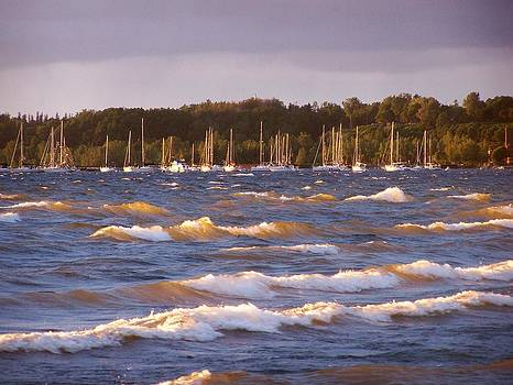 Sun Kissed Waves on Champlain by Jeff Moose
