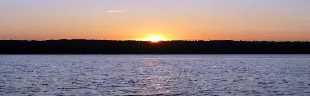 Sun Set at Lake Marie Louise by Jason Nelson