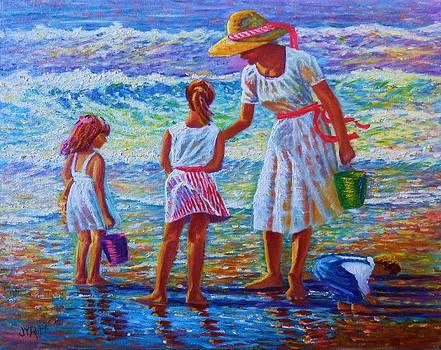 Sunday Afternoon Shore Study by Joseph   Ruff