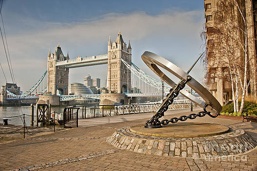 Sundial at Tower Bridge by Donald Davis