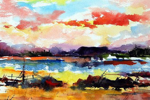 Sundown at Muskoka by Wilfred McOstrich