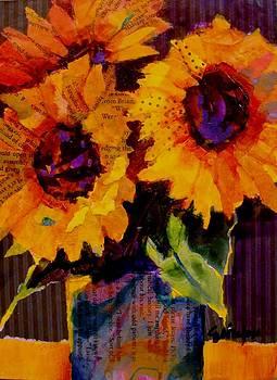 Sunflower Trio by Carol  Nelson