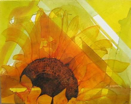 Sunflowerise by Vicky Shaffer White