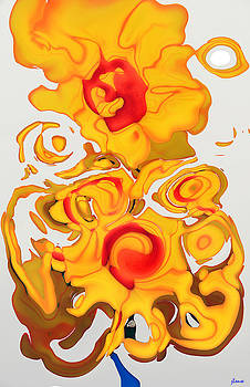 Sunflowers in Abstraction  by JoAnn Lense