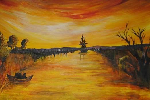 Sunrise Fisherman by Lauren Brown