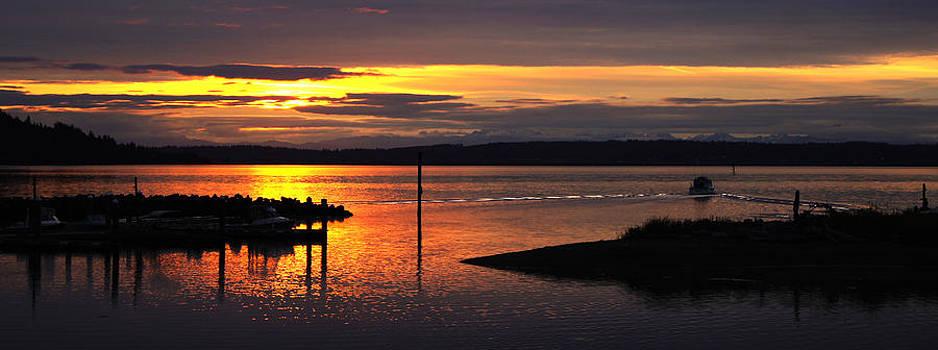 Sunrise fishing by Wendy Emel