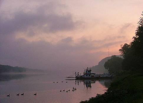 Sunrise in Sistersville by Joan Kerns