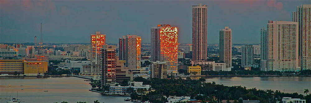 sunrise over Miami 2 by Ronald  Bell