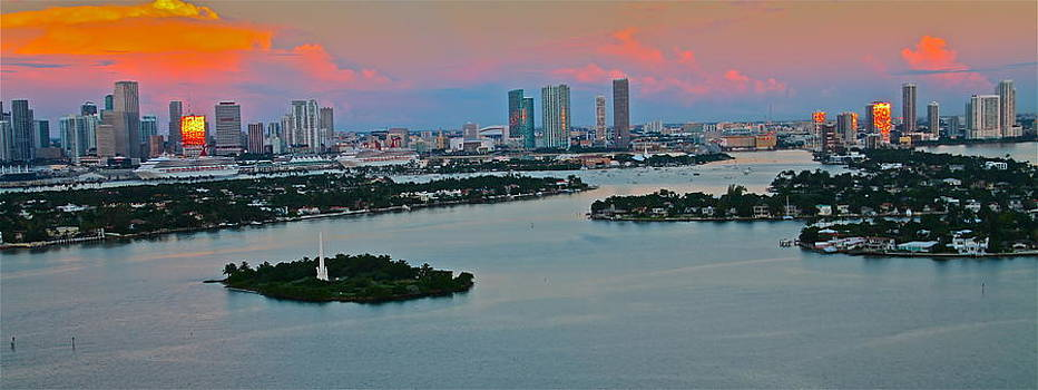 sunrise over Miami 900 by Ronald  Bell