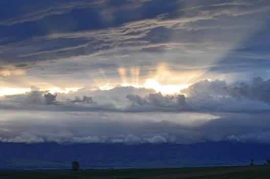 Sunrise Over Montana's Bridger Mountains by Bruce Gourley