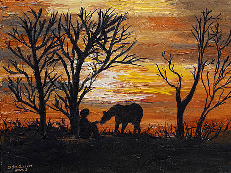 Sunset After a Great Ride by J Cheyenne Howell