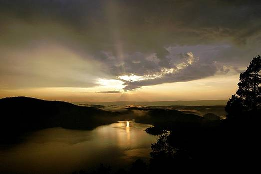 Sunset After the Rain Hawns Overlook Raystown Lake  by L Granville Laird