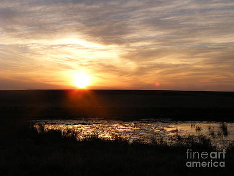Sunset and water by Helena Marais