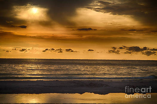 Sunset at Clearwater Beach Florida by Robert Wirth