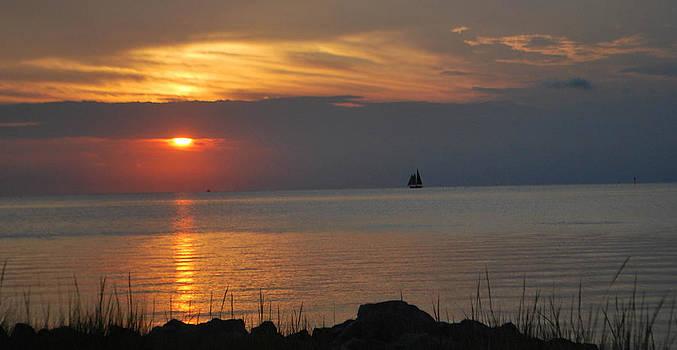 Sunset at Ocracoke by Julie Strickland