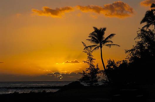Sunset at Poipu Beach by Jen Morrison