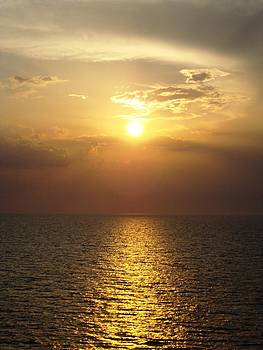 Sunset at Sea by Cristy Crites