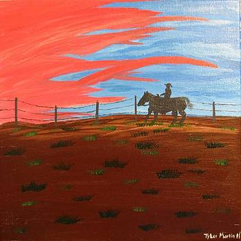 Sunset Cowboy by Tyler Martin