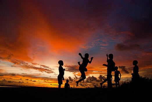 Sunset for Komoro children by Thomas Suryono
