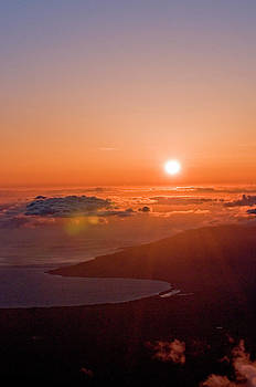 Sunset from Above the Clouds by Alina  Oswald