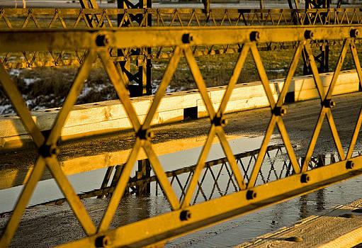 LeeAnn McLaneGoetz McLaneGoetzStudioLLCcom - Sunset Golden Water Over The Bridge