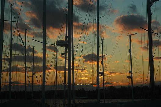 Sunset Harbor by Rafael Figueroa