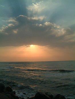 Sunset in caspian sea by Houman Pazouki