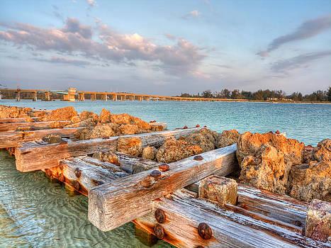 Sunset Longboat Pass Bridge  by Jenny Ellen Photography